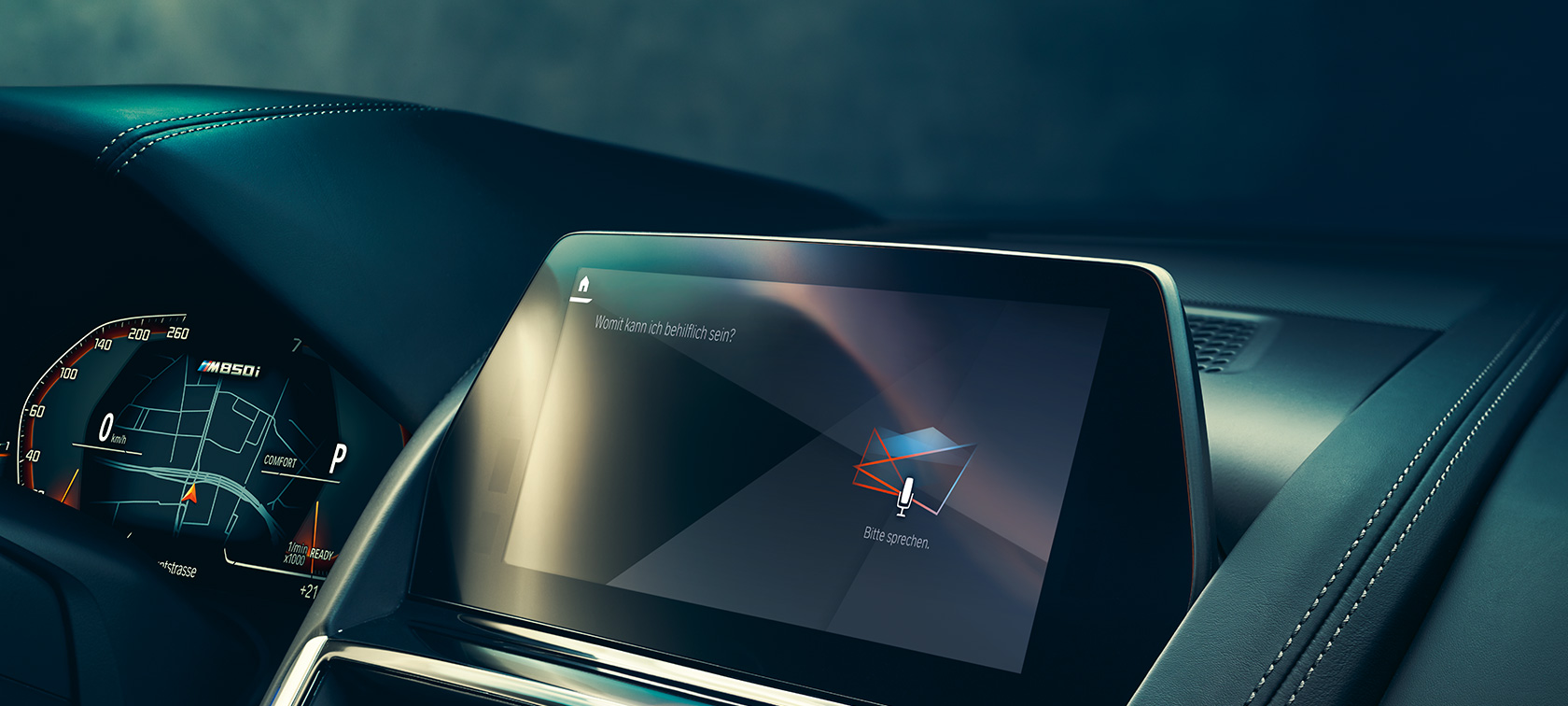 BMW Intelligent Personal Assistant Anzeige im Control Display